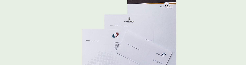 Briefpapier Gestalten Und Drucken Werbeagentur Exakt Darmstadt