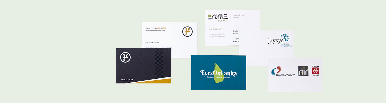 Visitenkarten Druck Werbeagentur Exakt Darmstadt